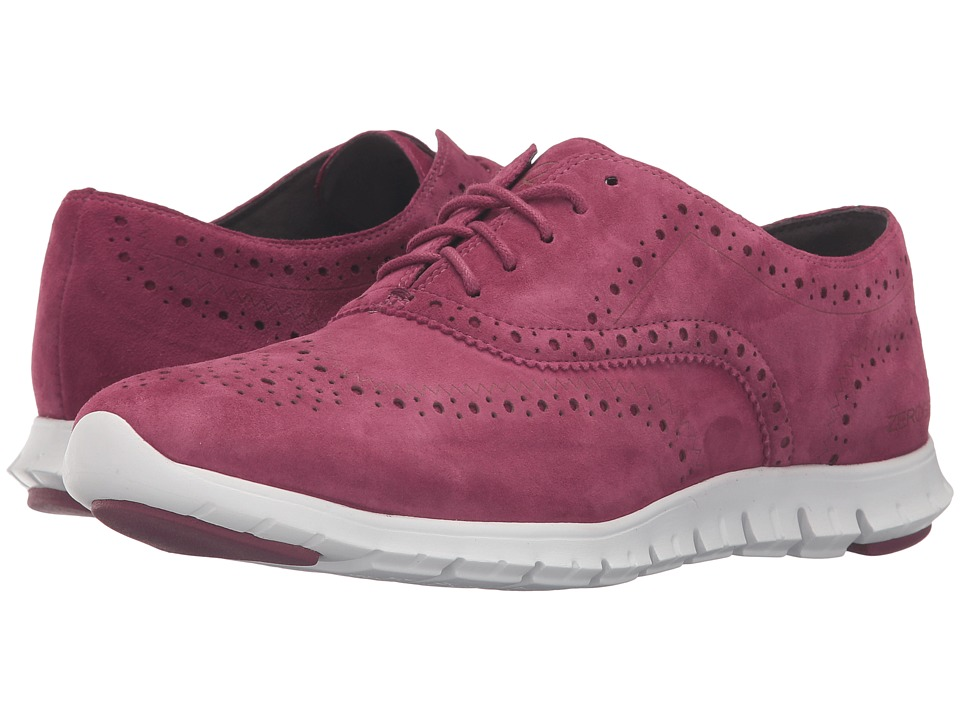 Cole Haan - Zerogrand Wing Oxford (Cabernet Suede Closed Hole/Optic White) Women's Shoes