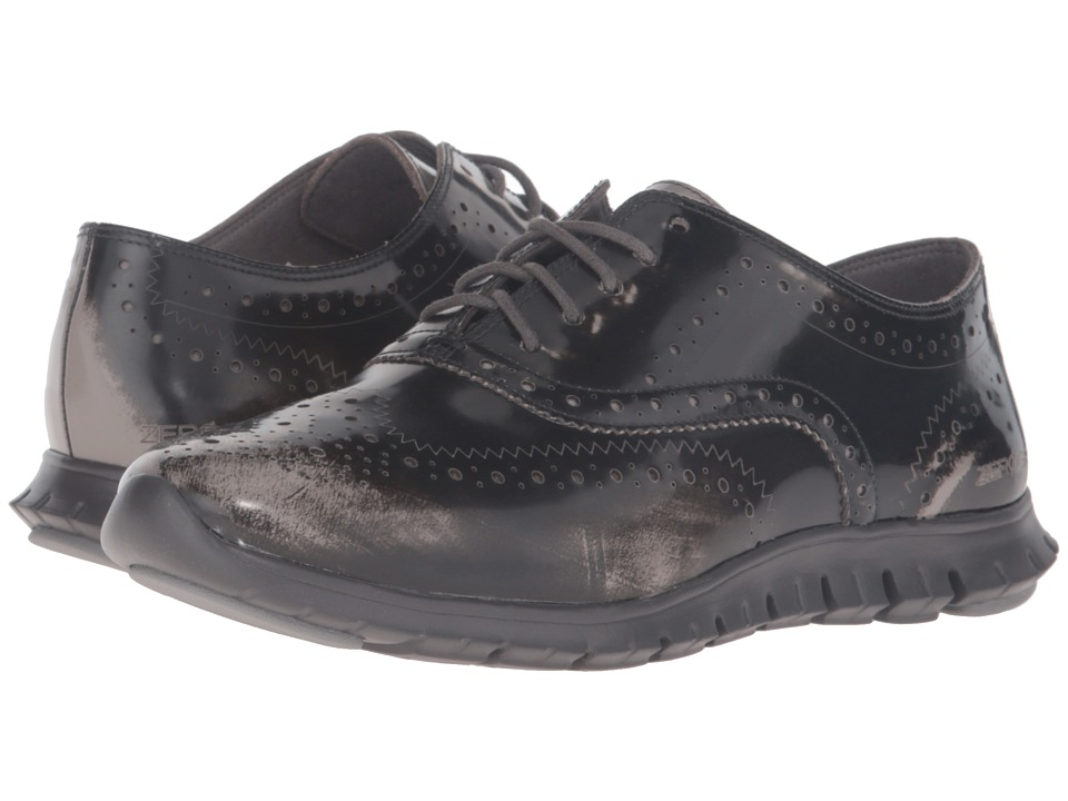 Cole Haan - Zerogrand Wing Oxford (Ironstone Brush-Off Leather/Pavement) Women's Shoes