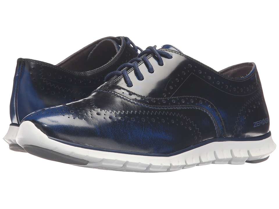 Cole Haan - Zerogrand Wing Oxford (Twilight Brush-Off Leather/Pavement) Women's Shoes