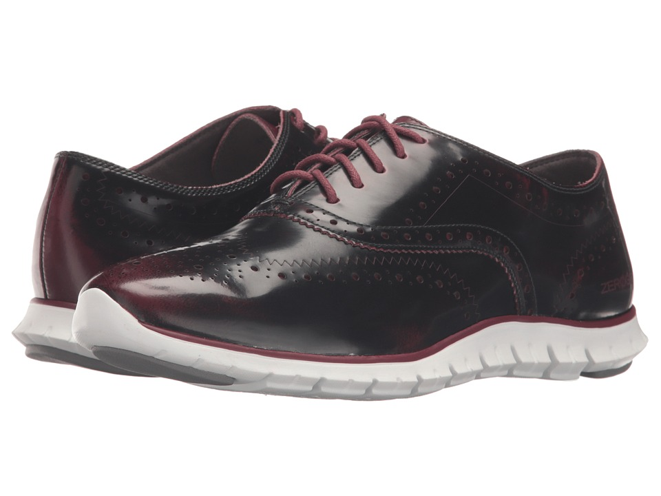 Cole Haan - Zerogrand Wing Oxford (Zinfandel Brush-Off Leather/Optic White) Women's Shoes