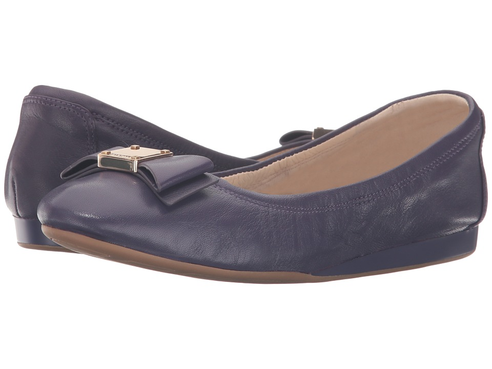 Cole Haan - Tali Bow Ballet (Purple Velvet Leather) Women's Slip on Shoes