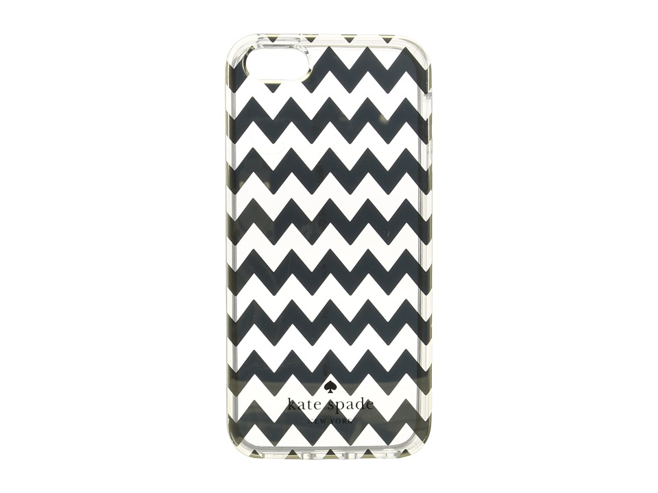 Kate Spade New York - Chevron Clear Phone Case for iPhone 5, 5s, and SE (Gold) Cell Phone Case