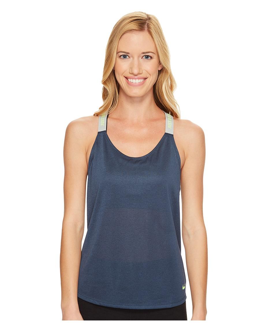 Nike - Dry Training Tank (Squadron Blue/Wolf Grey/Ghost Green) Women's Sleeveless