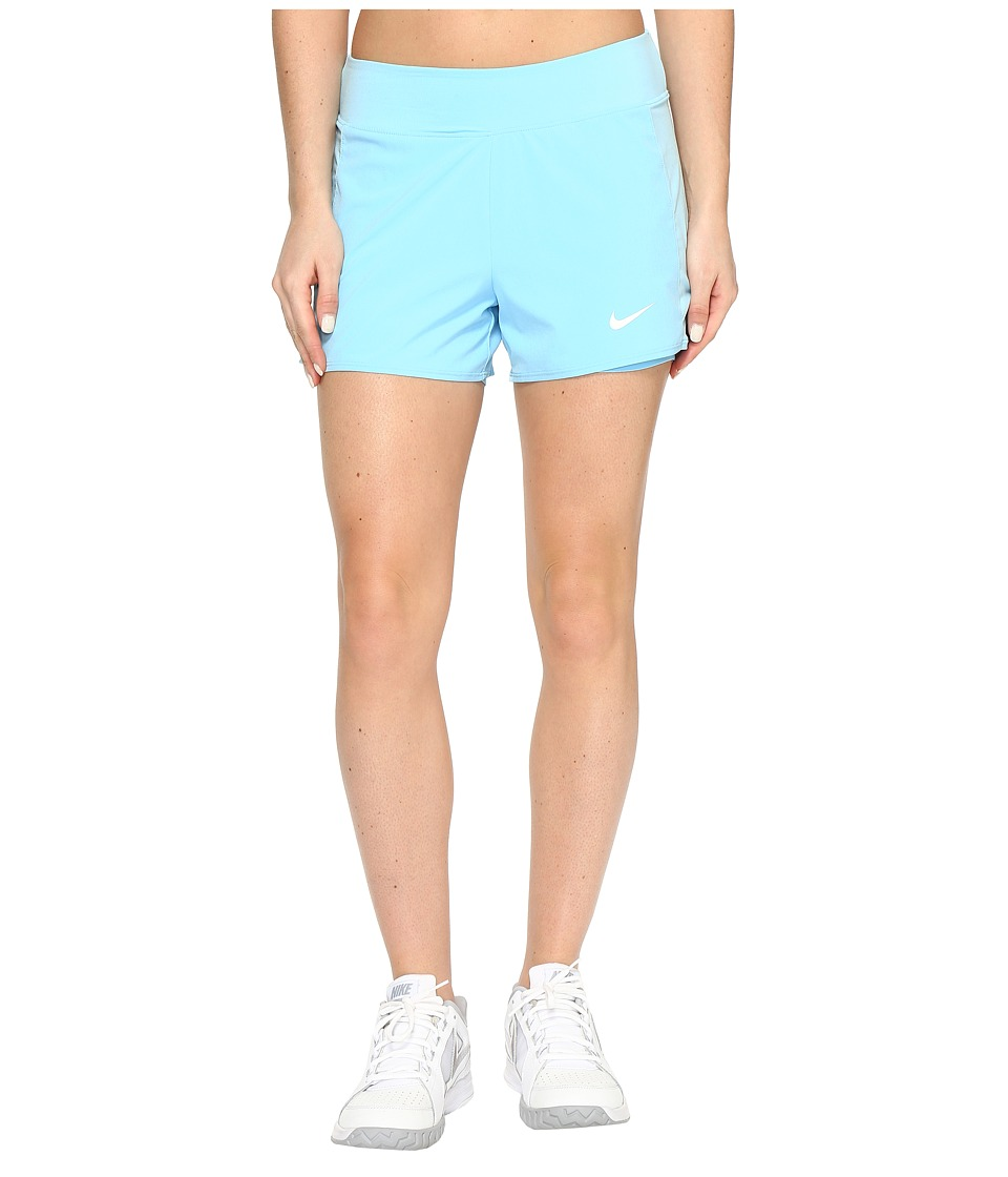Nike - Court Flex Pure Tennis Short (Still Blue/White) Women's Shorts