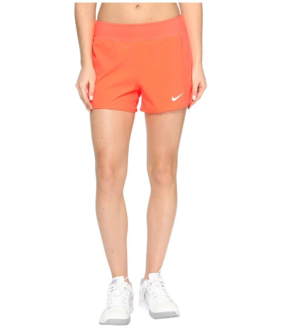 Nike - Court Flex Pure Tennis Short (Hyper Orange/White) Women's Shorts