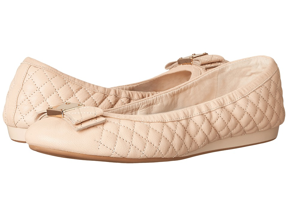 Cole Haan - Tali Bow Quilted Ballet (Nude Quilted Leather) Women's Flat Shoes