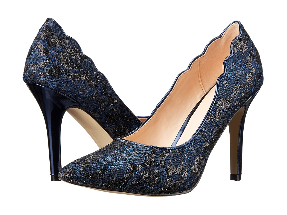 Paradox London Pink - Alexis (Navy Glitter Lace) Women's Shoes