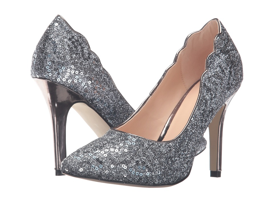 Paradox London Pink - Alexis (Pewter Glitter/Sequins) Women's Shoes