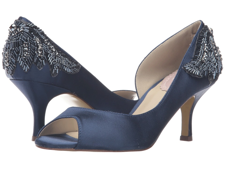 Paradox London Pink - Finery (Navy Satin) Women's Shoes