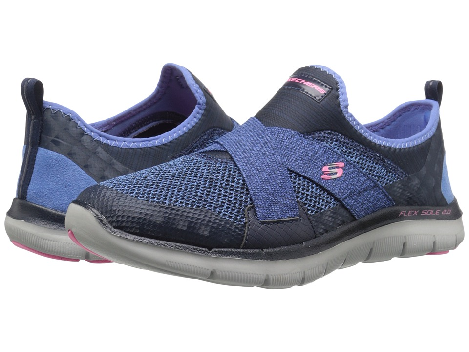 SKECHERS - Flex Appeal 2.0 - New Image (Navy) Women's Shoes