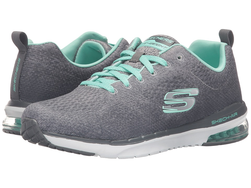 SKECHERS - Skech-Air Infinity - Modern Chic (Gray/Mint) Women's Shoes