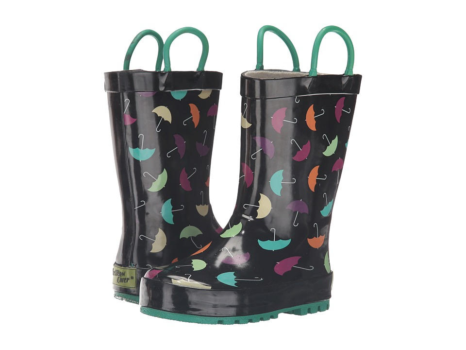 Western Chief Kids - Umbrella Days (Toddler/Little Kid/Big Kid) (Black) Girls Shoes