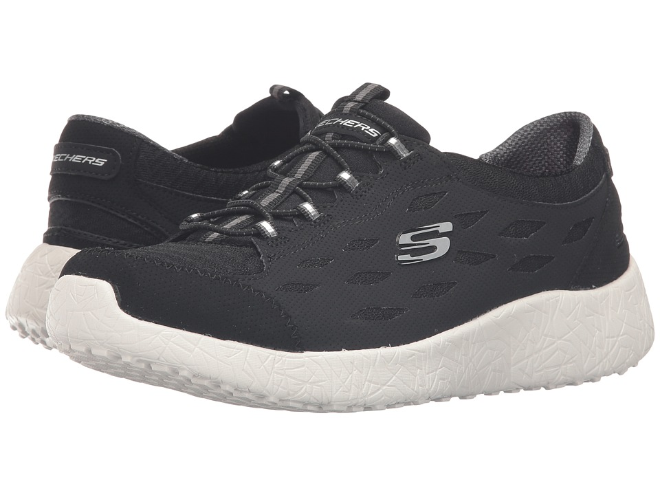 SKECHERS - Burst - On Beat (Black/White) Women's Shoes