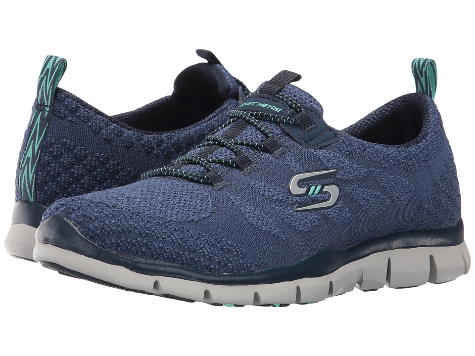 SKECHERS - Gratis - Sleek Chic (Navy) Women's Shoes