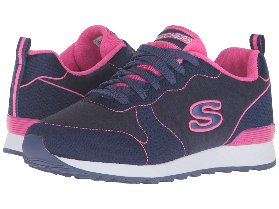 SKECHERS - OG 85 - Quick Stitch (Navy/Pink) Women's Shoes