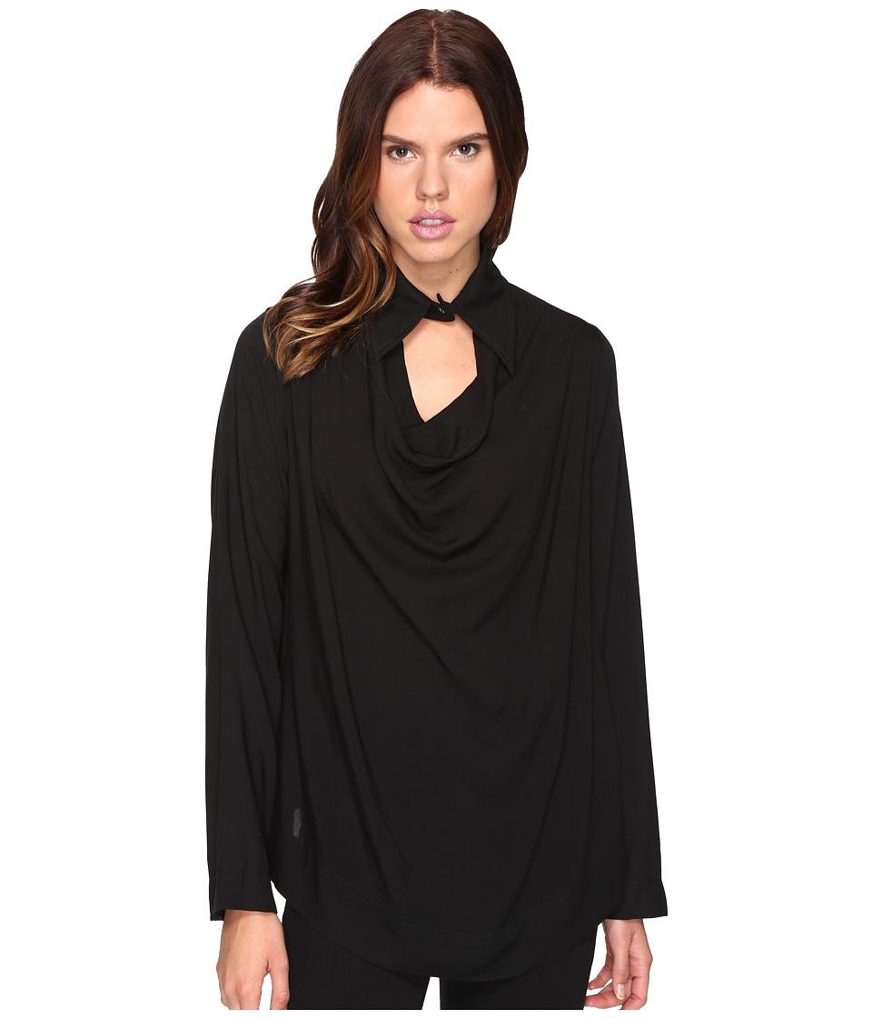 Vivienne Westwood - Long Sleeve Tondo Shirt (Black) Women's Clothing