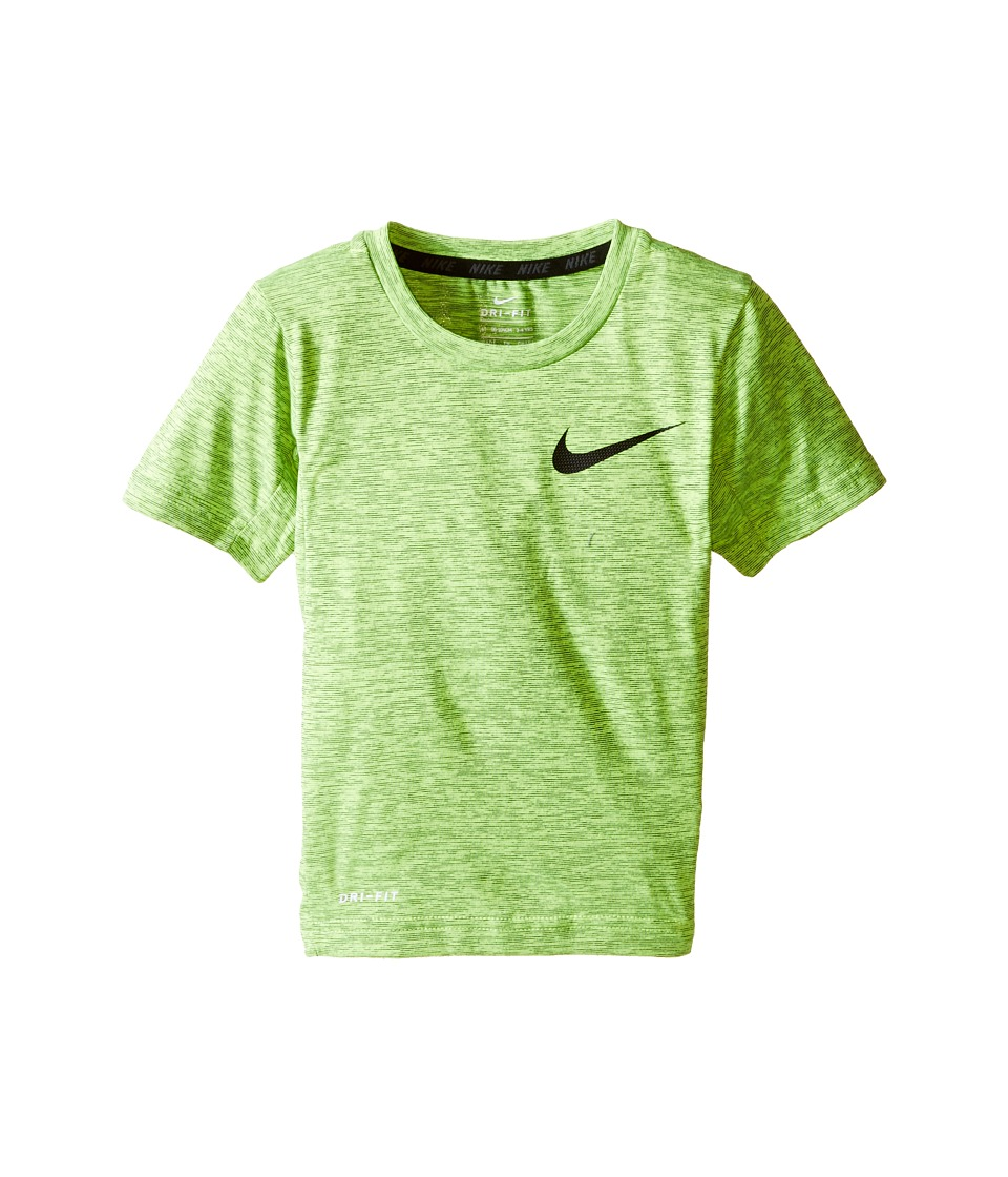 Nike Kids - Dri-FIT Training Short Sleeve Top (Toddler) (Volt) Boy's Short Sleeve Pullover