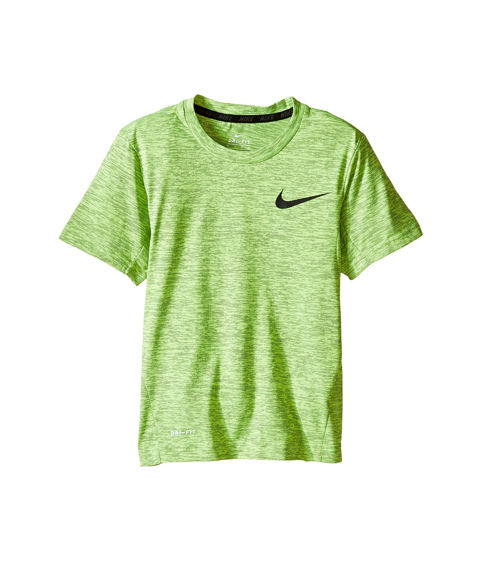 Nike Kids - Dri-FIT Training Short Sleeve Top (Little Kids) (Volt) Boy's Short Sleeve Pullover