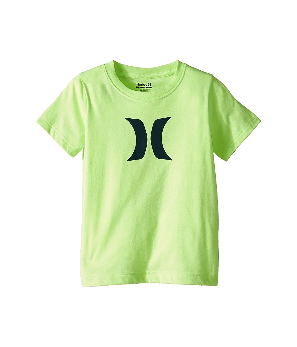 Hurley Kids - Icon Fill Tee (Little Kids) (Ghost Green Heather) Boy's T Shirt