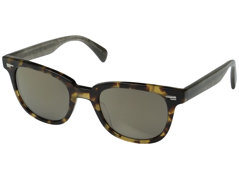 Oliver Peoples - Masek (Hickory Tortoise/Cement/Grey Goldtone Vintage) Fashion Sunglasses