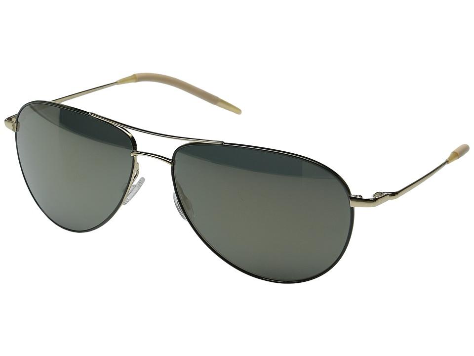 Oliver Peoples - Benedict 62 (Gold/Forest/Goldtone Polarized) Fashion Sunglasses