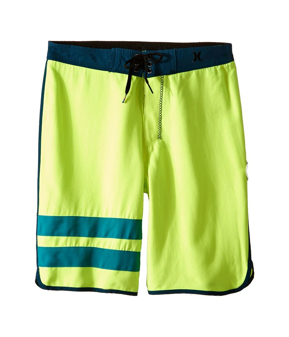 Hurley Kids Block Party Boardshorts (Big Kids) (Volt/Midnight Turquoise) Boy