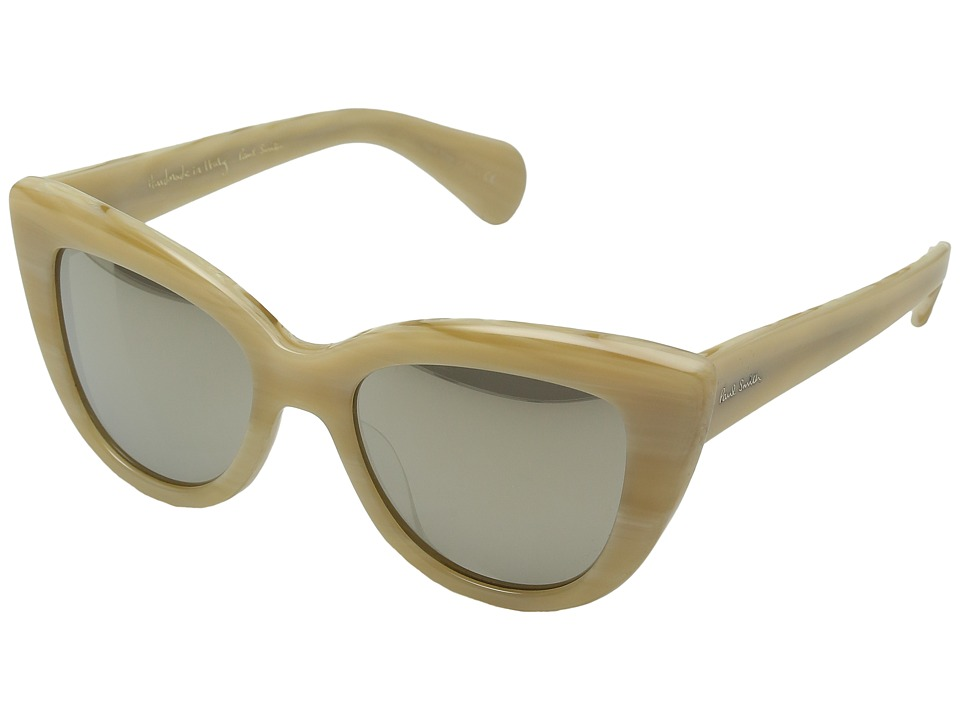 Paul Smith - Lovell (Beige Silk/Taupe Flash Mirror) Fashion Sunglasses