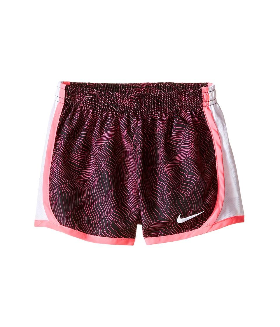 Nike Kids - Tempo Dry Allover Print Short (Toddler) (Black) Girl's Shorts