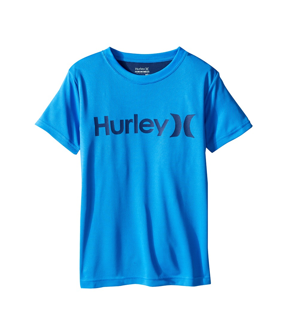 Hurley Kids Dri Fit Tee (Big Kids) (Fountain Blue) Boy