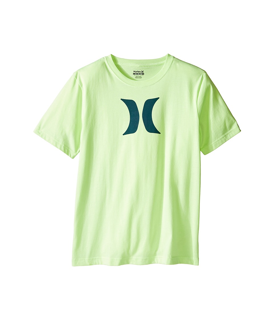 Hurley Kids - Icon Fill Tee (Big Kids) (Ghost Green Heather) Boy's T Shirt