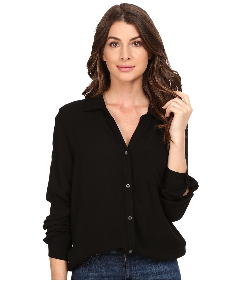 Three Dots - Ariana - Button Down Shirt (Black) Women's Clothing