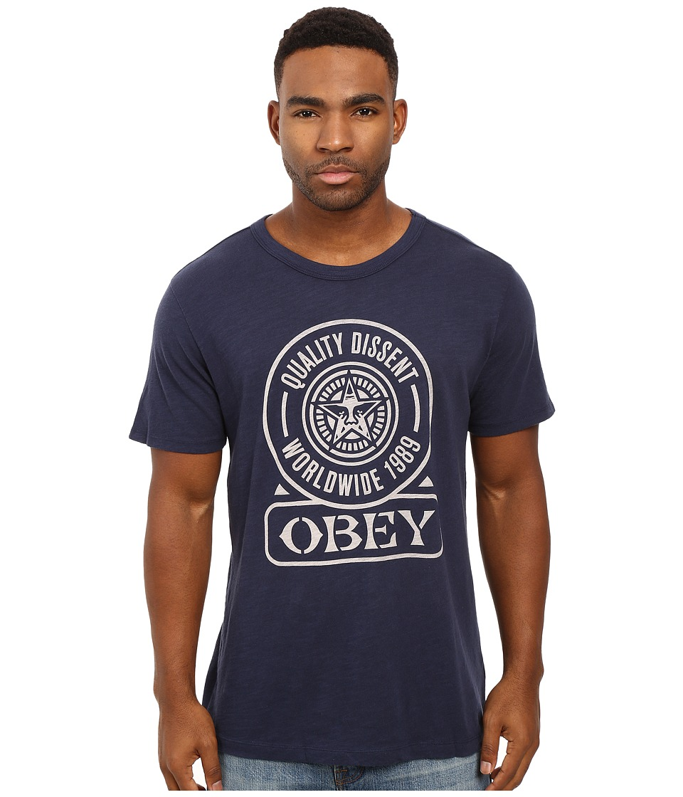Obey - Obey Quality Dissent (Navy) Men's T Shirt