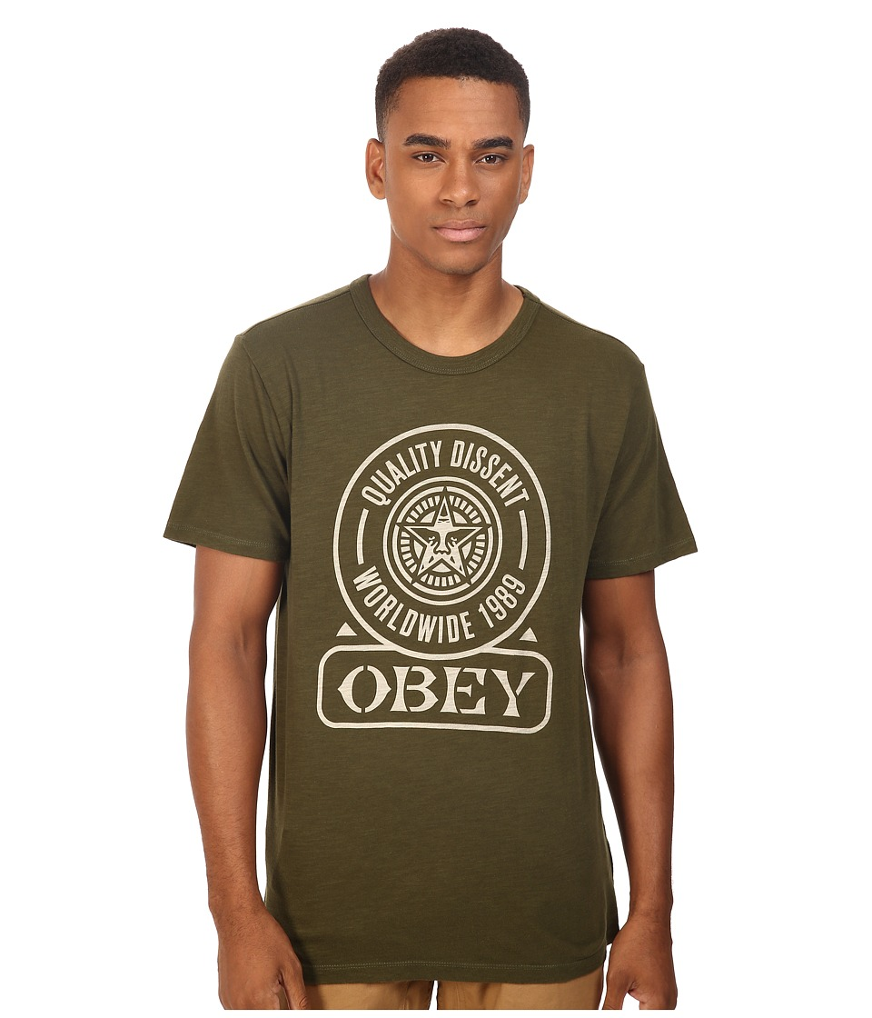 Obey - Obey Quality Dissent (Army) Men's T Shirt