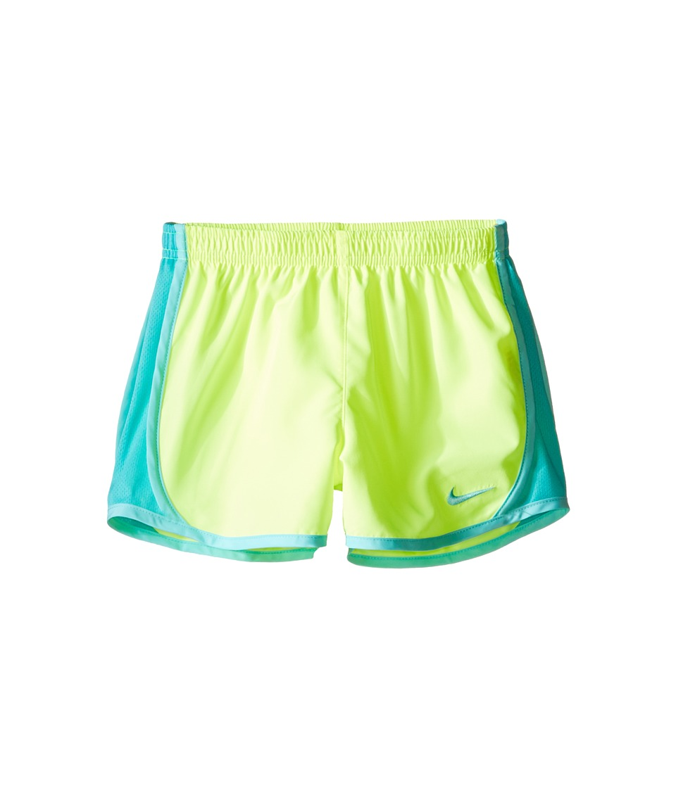 Nike Kids - Dri-FIT Woven Short (Toddler/Little Kids) (Volt/Hyper Turquoise) Girl's Shorts