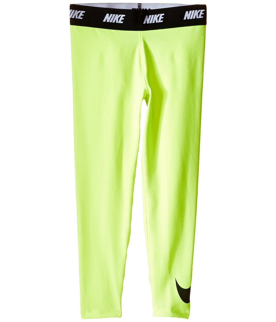 Nike Kids - Sport Essentials Printed Leggings (Toddler) (Volt) Girl's Casual Pants