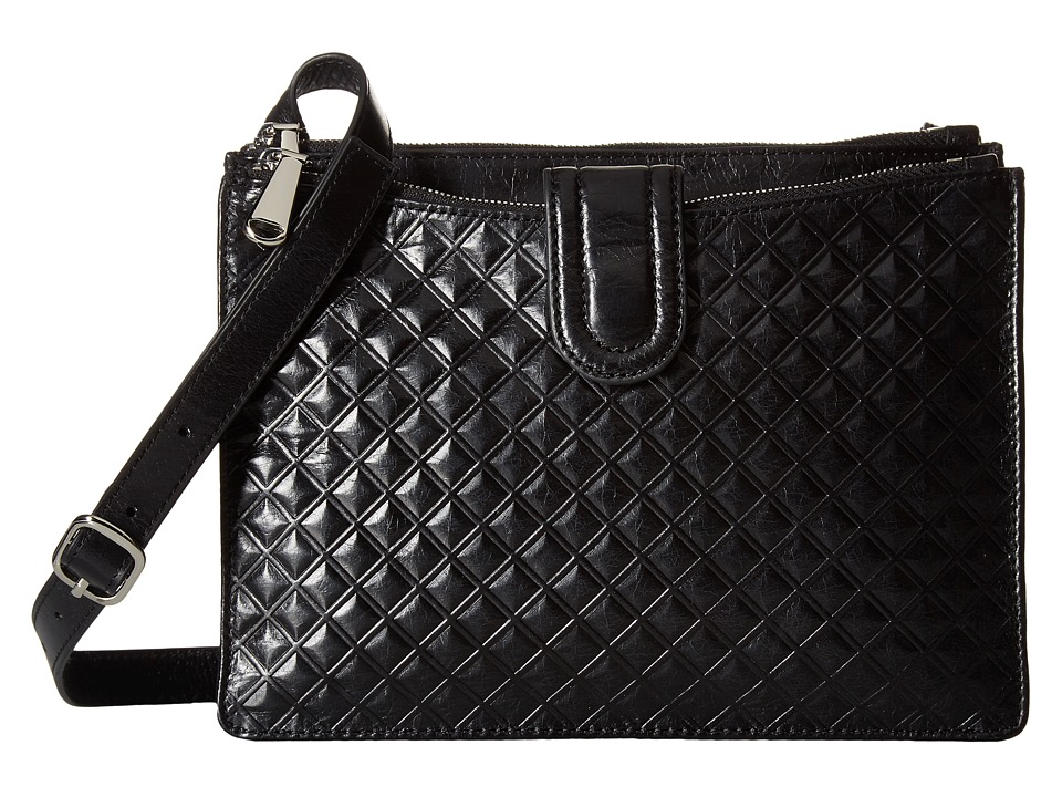 Hobo - Goldie (Diamond Embossed Black) Cross Body Handbags