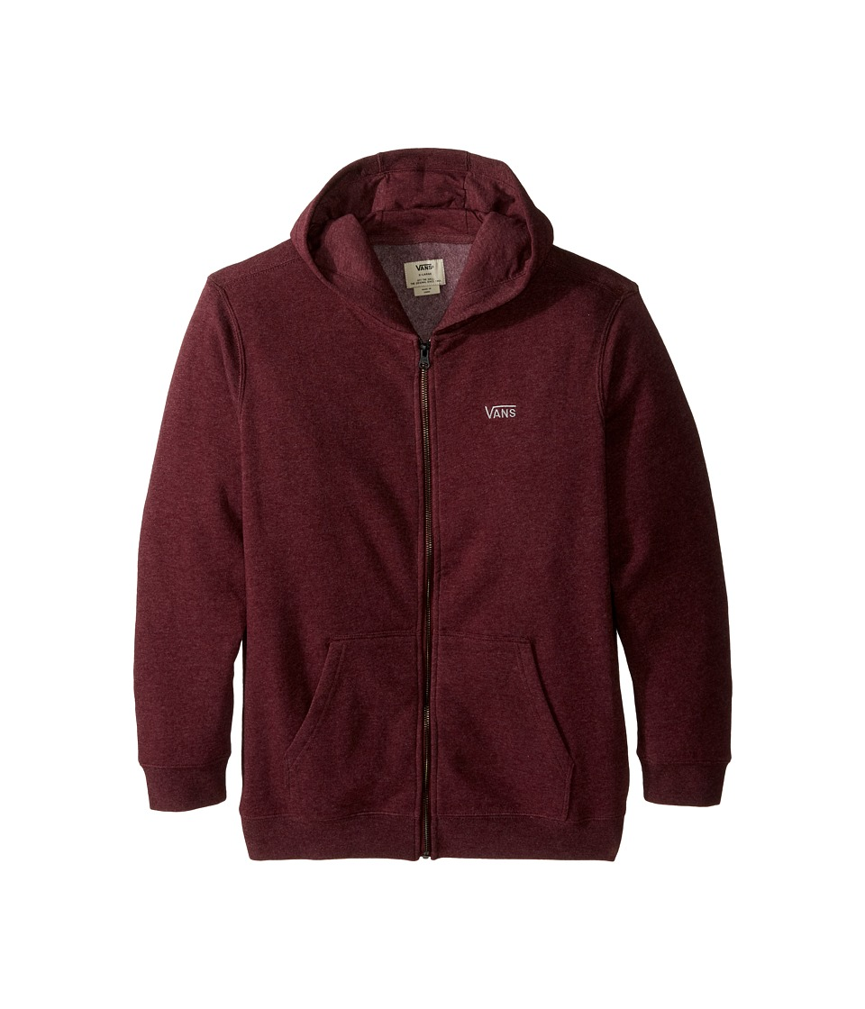 Vans Kids - Core Basic Zip Fleece IV (Big Kids) (Port Royale Heather) Boy's Fleece