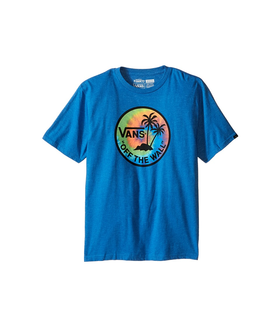 Vans Kids - Dual Palm Logo Fill Tee (Big Kids) (Royal Heather/Tie-Dye) Boy's T Shirt