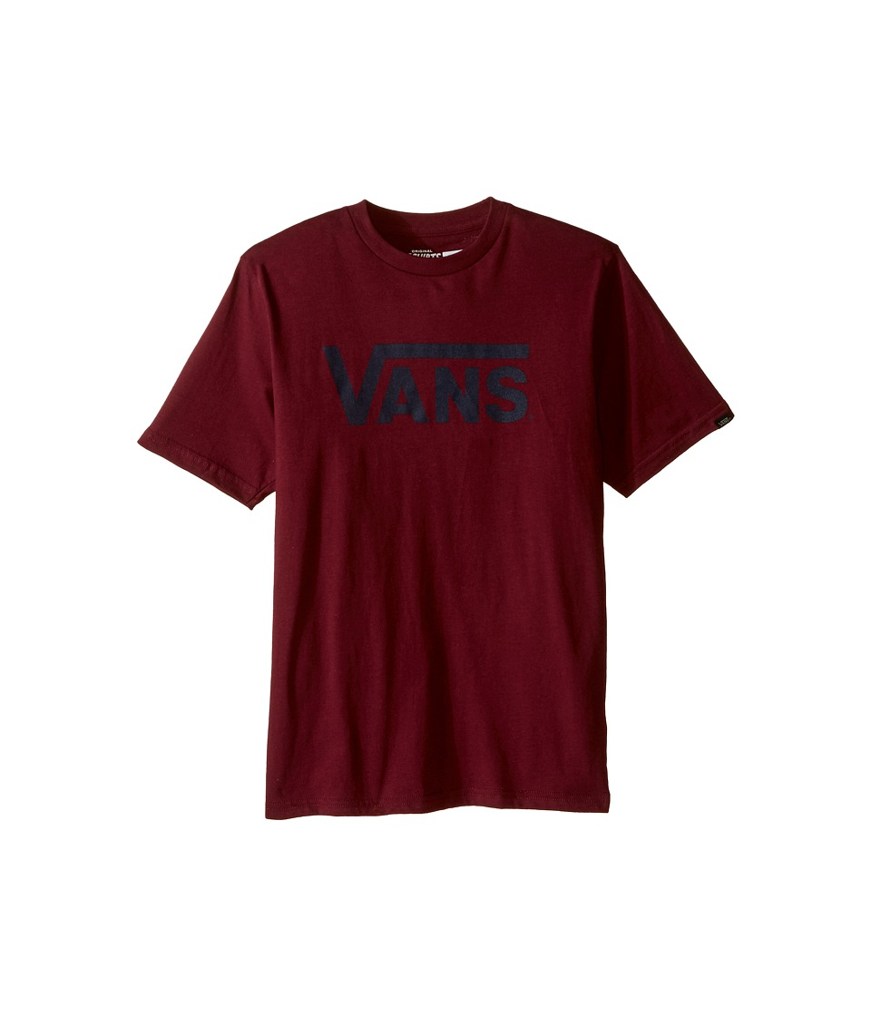 Vans Kids - Vans Classic Tee (Big Kids) (Burgundy/Dress Blues) Boy's T Shirt