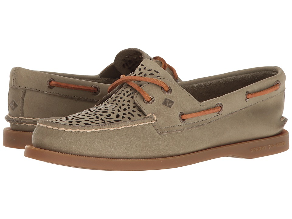 Sperry - A/O Villa Perf (Olive) Women's Lace up casual Shoes