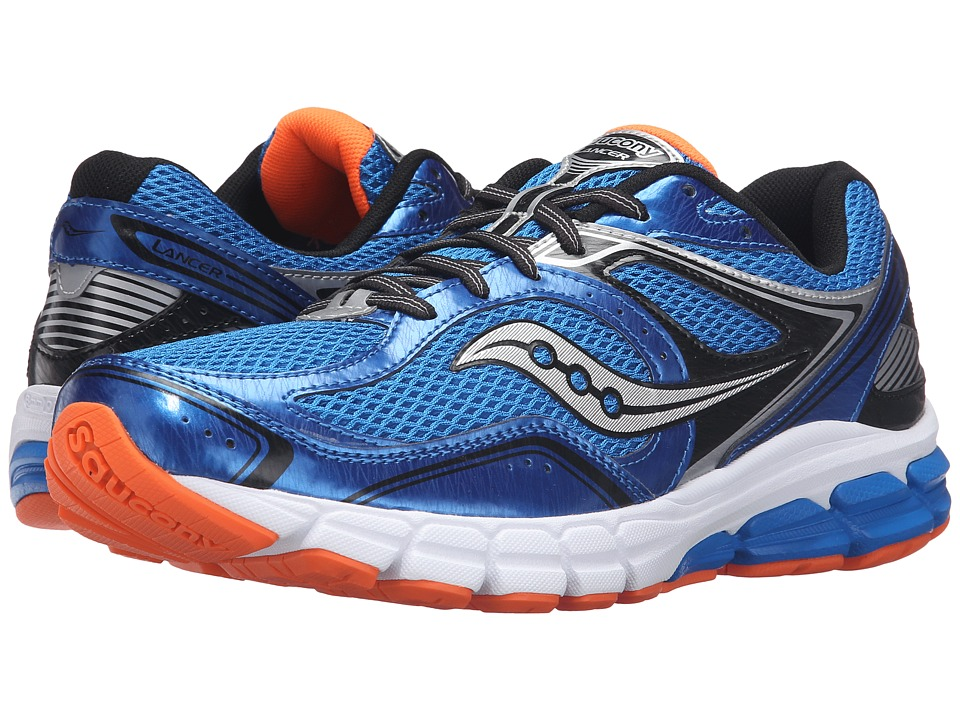 Saucony - Progrid Lancer (Royal/Black/Orange) Men's Running Shoes