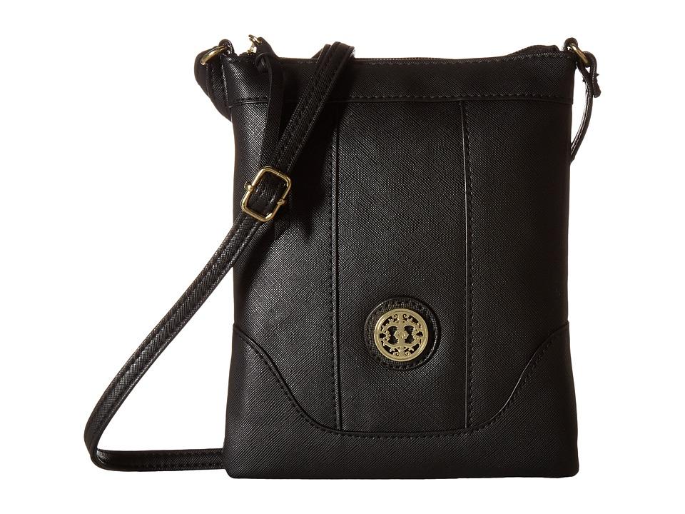 Gabriella Rocha - Hansa Crossbody Purse w/ Medallion (Black) Cross Body Handbags