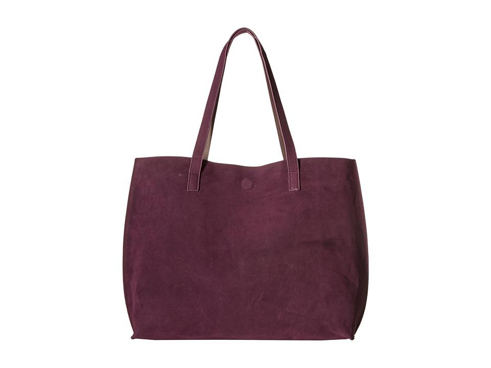 Gabriella Rocha - Ila Faux Suede Reversible Tote (Plum/Taupe) Tote Handbags