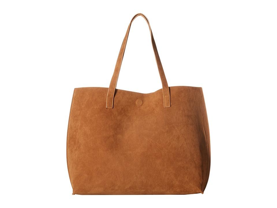 Gabriella Rocha - Ila Faux Suede Reversible Tote (Cognac/Black) Tote Handbags