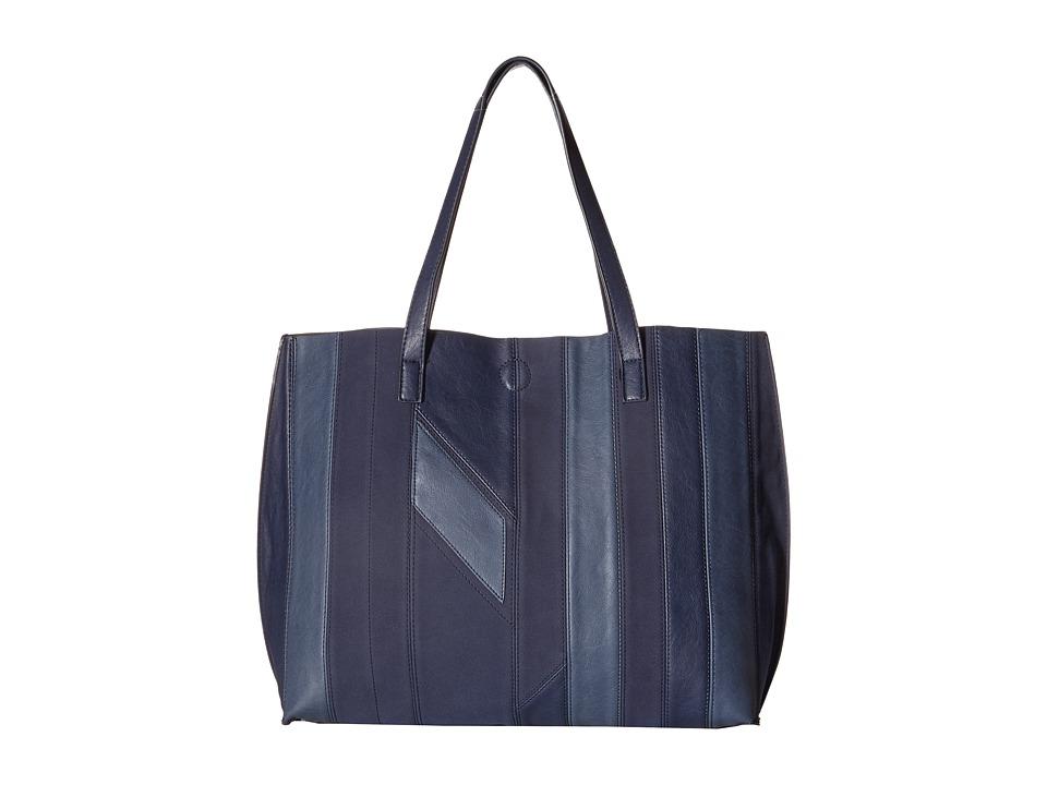 Gabriella Rocha - Saida Patchwork Reversible Tote (Navy/Grey) Tote Handbags