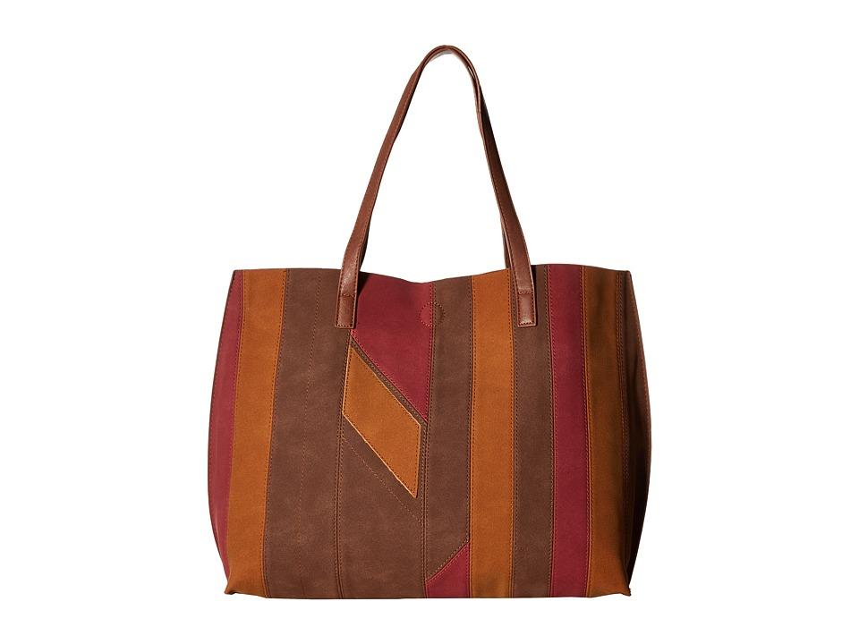 Gabriella Rocha - Saida Patchwork Reversible Tote (Burgundy/Rust) Tote Handbags