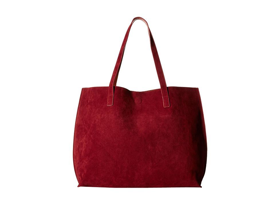 Gabriella Rocha - Ila Faux Suede Reversible Tote (Wine/Cognac) Tote Handbags