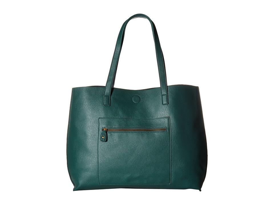 Gabriella Rocha - Kaira Reversible Tote w/ Pocket (Hunter/Navy) Tote Handbags