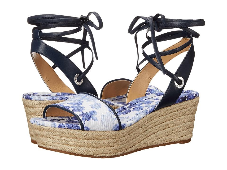 MICHAEL Michael Kors - Margie Flatform (Blue) Women's Shoes