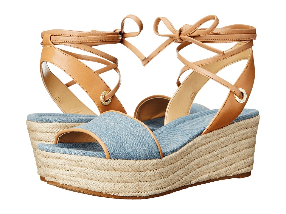 MICHAEL Michael Kors - Margie Flatform (Washed Denim) Women's Shoes